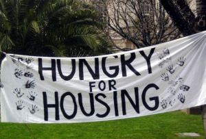 hungry for housing sign
