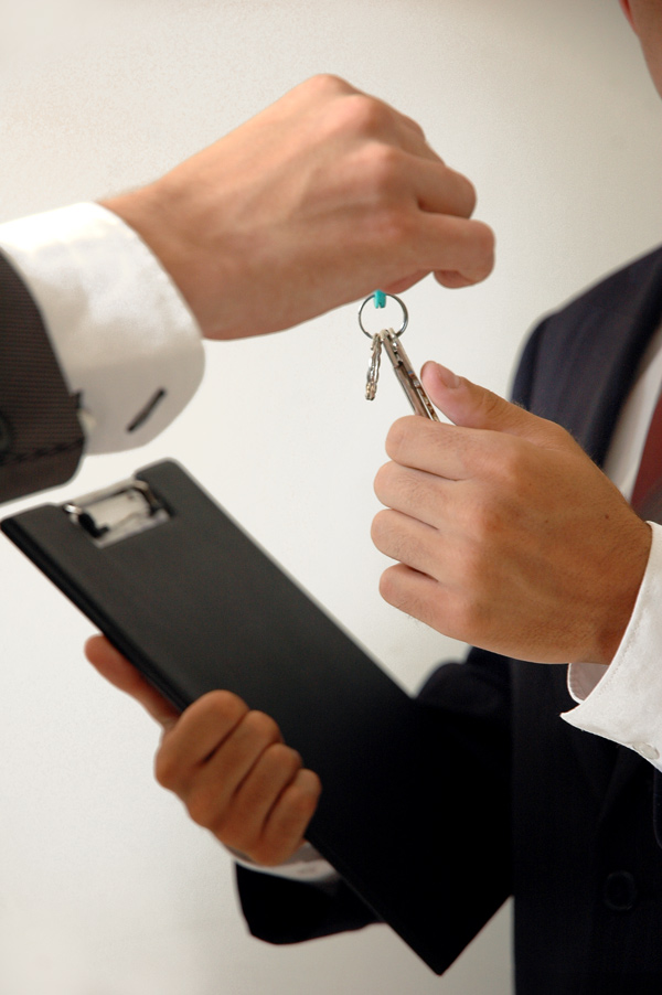 The housing or home keys transfer in between the tenant or landlord and the inventory clerk
